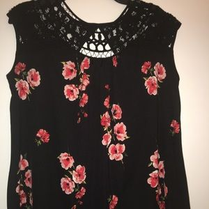 Maurice's lace embellished floral tank